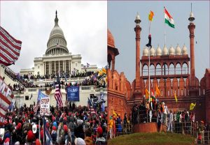 Capitol Hill moment in India: Agitating farmers enter Red Fort, wave their own flag (VIDEO)