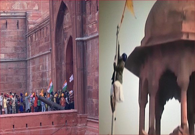 Farmers' tractor rally UPDATES: Protestor hoists flag from ramparts of the Red Fort in Delhi