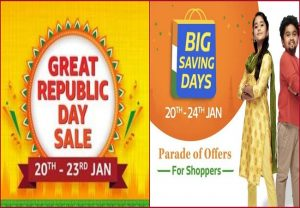 Amazon Republic Day sale VS Flipkart Big Saving Days: Best offers on smartphone, TVs, wireless earbuds and more