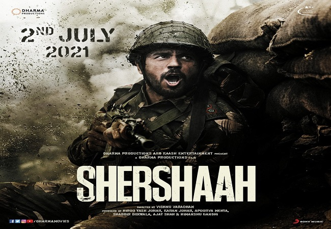Sidharth Malhotra starrer 'Shershaah' to hit the theatres on July 2, 2021; Posters out