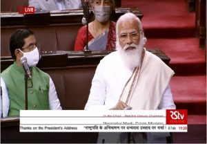 PM Modi's reply to motion of thanks on the President's Address in the Rajya Sabha | Watch here