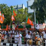 Grand welcome of PM Narendra Modi in Tamil Nadu #ModiInTamilnadu