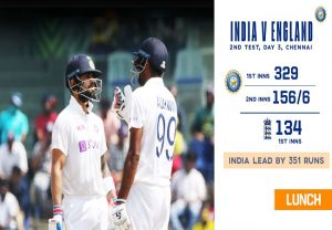 Ind vs Eng, 2nd Test: Kohli, Ashwin lead the way after Leach, Moeen spin web over hosts
