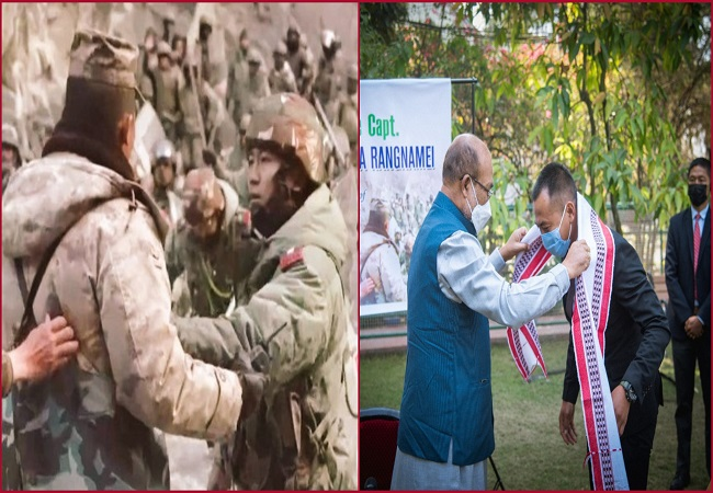 Galwan clash: Army officer who confronted Chinese troops honoured by Manipur govt (VIDEO)