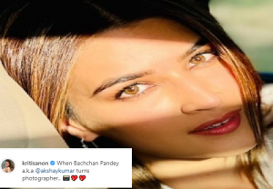 Kriti Sanon treated fans with sunkissed picture of herself as Akshay Kumar turns her photographer; See here