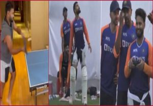 Table tennis with i-Pad, drone at nets: Rishabh Pant's interesting ways to unwind …WATCH
