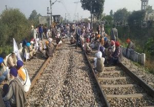 Rail Roko by Farmers: Police personnel deployed at Delhi's Nangloi railway station