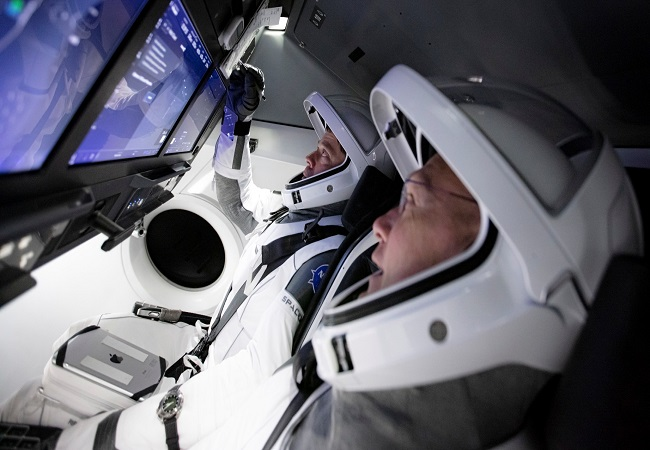 Four flight engineers -- Michael Hopkins, Victor Glover, Shannon Walker and Soichi Noguchi -- docked the SpaceX Crew Dragon spacecraft to the US module last November.