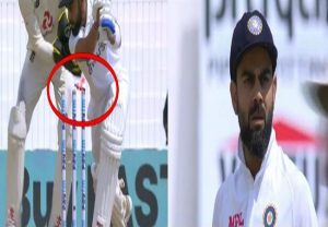 Virat Kohli stunned after getting clean bowled on 5-ball duck (video)