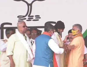 West Bengal Elections: Actor Mithun Chakraborty joins BJP at PM's rally