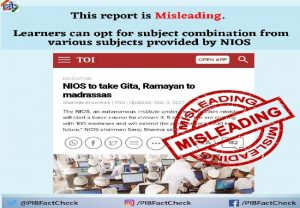 """FACT-CHECK: Reports of """"NIOS  to take Gita, Ramayan to Madrassas"""" is FAKE and has distorted facts"""