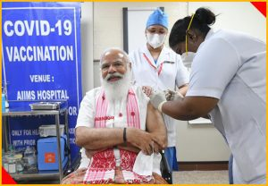 WATCH: PM Modi takes first dose of COVID-19 vaccine