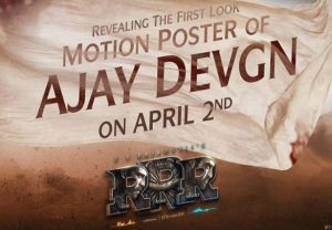 Ajay Devgn's first look motion poster from 'RRR' to release on his birthday