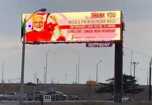 Hoardings with 'thank you' note to PM Modi on Canada streets… here is why
