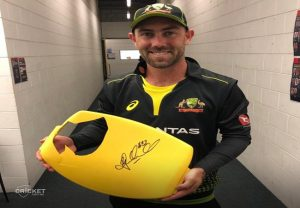 Seat broken by Glenn Maxwell's six to be auctioned for charity