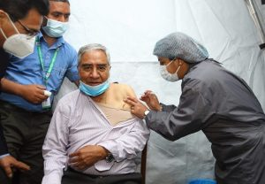 Nepal Parliamentarians take first shot of Made-in-India COVID-19 vaccine