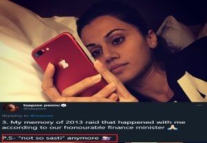 """Taapsee pannu tweets for the 1st time after IT raid, says she is """"not so sasti"""" anymore"""