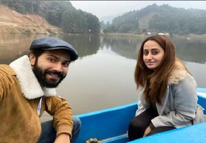 """Not on a honeymoon"": Varun Dhawan, Natasha Dalal share beautiful boat ride in Arunachal Pradesh"