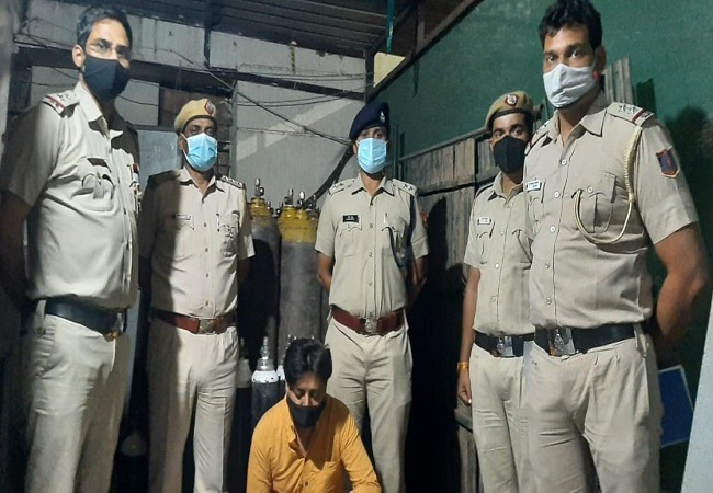 Delhi Police recovers 32 big, 16 small oxygen cylinders as India gasps for breath
