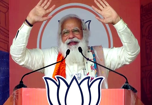 Didi clean-bowled, BJP has scored century in Bengal's 4 phases, claims PM Modi