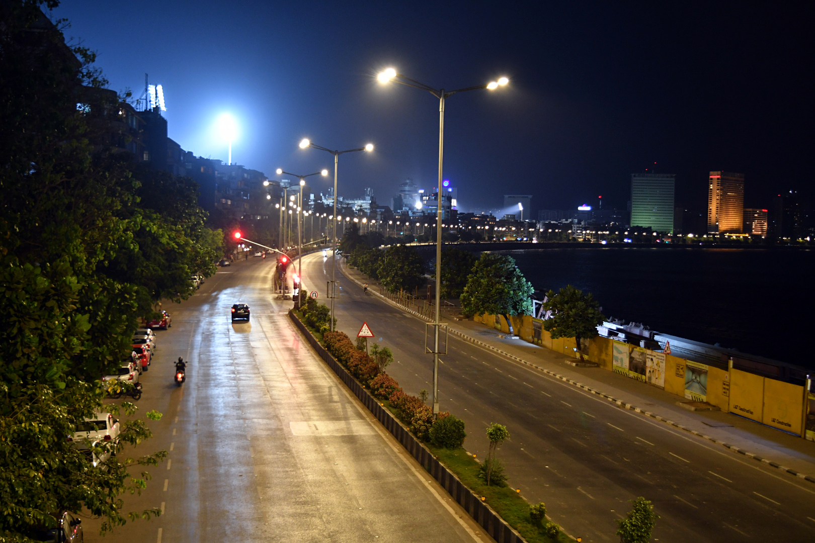 A deserted view of Marine Drive