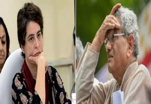 Priyanka's Twitter gaffe over condolence tweet on Sitaram Yechury's son's demise, takes 3 attempts