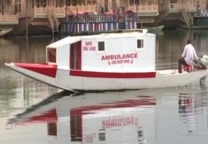 IN PICS: Man sets up 'floating ambulance' for Covid-19 patients in J&K