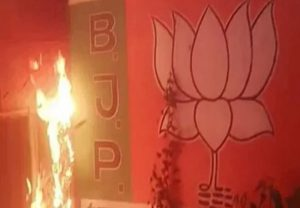BJP accuses TMC for burning offices, looting shops and attacking workers as it wins Bengal Polls