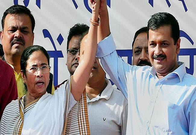 Kejriwal congratulates Mamata Banerjee for landslide victory as trends suggests 3rd term for didi