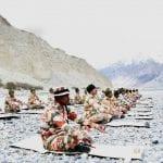 ITBP personnel perform Yoga near Galwan, Ladakh