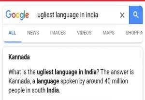 Google showing Kannada as 'ugliest language' starts a row on Twitter