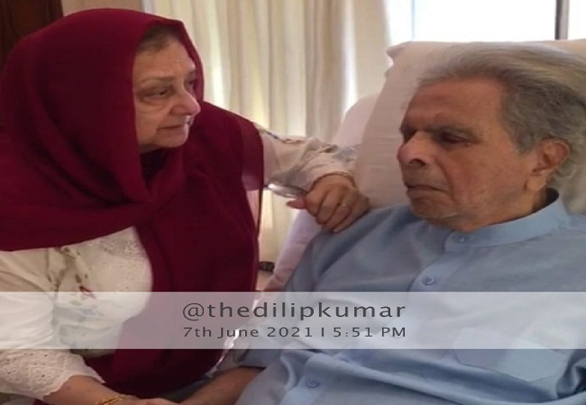 Dilip Kumar health update: Latest photo with Saira Banu in hospital puts rumours to rest