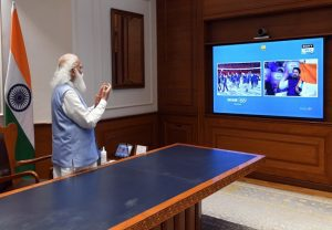 Tokyo Olympics: PM Modi catches glimpses of Opening Ceremony, urges all to 'Cheer4India'