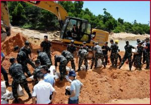 China Flood: 13 construction workers die in flooded tunnel in Guangdong province