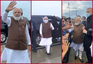 PM Modi meets people who were waiting to welcome him at Joint Base Andrews in Washington DC | See Pics