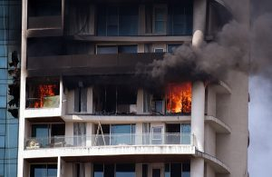 Fire breaks out in 60-storey residential building in Mumbai; See Pics