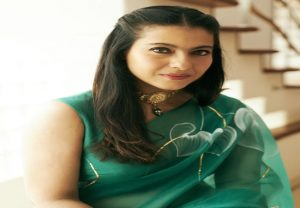 Kajol looks mesmerising in green organza saree on Maha Navami (PICS)