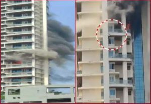 Mumbai: One person dead in fire at Avighna Park apartment building on Curry Road