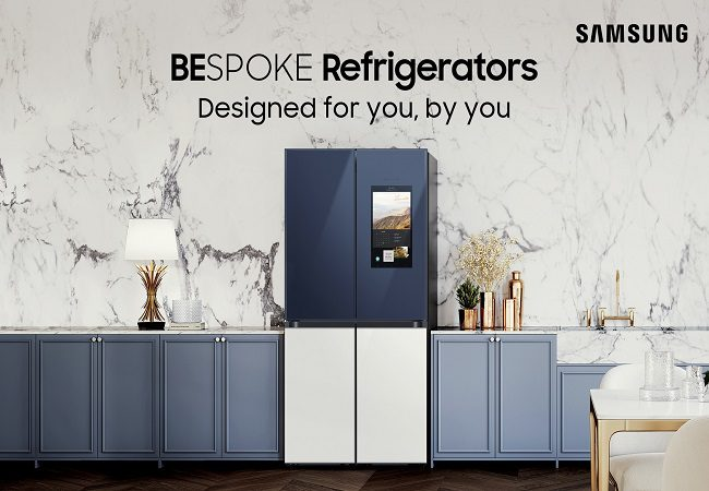 Samsung introduces BESPOKE range of refrigerators with glamourous looks and cutting-edge technology