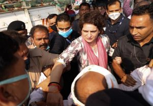 Priyanka Gandhi detained on way to Agra to visit family of sanitation worker who died in police custody
